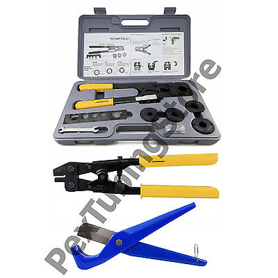 "PEX Crimp Tool Kit w/ Decrimper and Cutter -all sizes 1/2"", 5/8"", 3/4"", 1"""