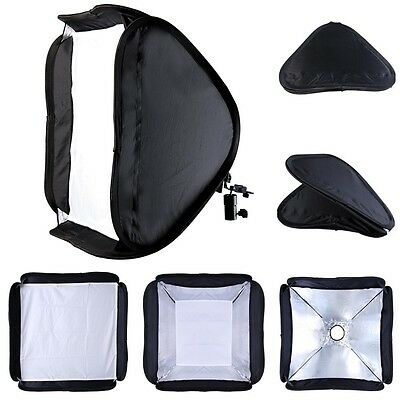 "24"" Portable Softbox For Flash Light Photography Speedlight w/Mounting Studio"