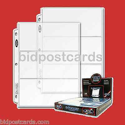50 3-Pocket BCW Currency Money Bill Archival Protector Pages Refill Album Binder