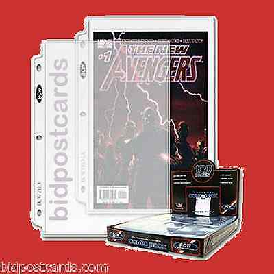 75 BCW 1-Pocket Current & Silver Comic Pro Archival Display Pages Sheets Holders