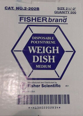 Fisherbrand disposable Weigh Dish (Medium) Cat No. 2-202B