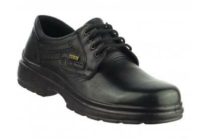 Cotswold SHIPSTON LACE SHOE Mens Leather Waterproof Casual Office Shoes Black