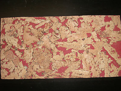 Natural Cork  Wall/Craft  Tile/Sheet - Red Background