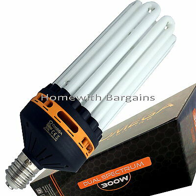 300w CFL Dual Spectrum (2700k+6400k) Grow & Flowering Light E40 Lamp Hydroponics