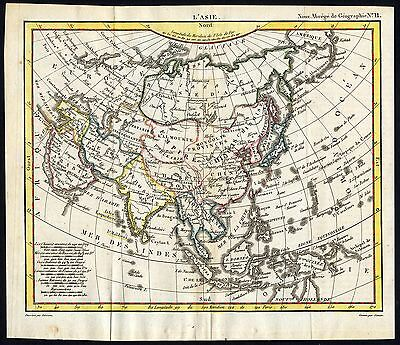 Antique Map-ASIA-CHINESE EMPIRE-Herisson-1816