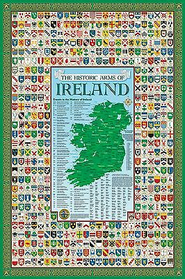 Ireland Coat of Arms Poster Map