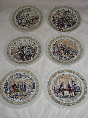 Lot Of 6 Darceau Limoges French Collector Plates Premiere Edition Limited 8.5""