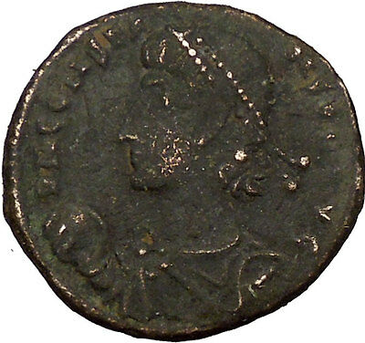 Constans Gay Emperor Constantine the Great son with labarum Roman Coin i35509
