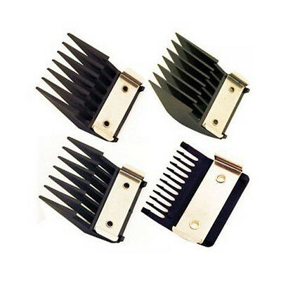Wahl Metal Backed 4 Attachment Comb Set Standard Fitting Metal Backed Combs