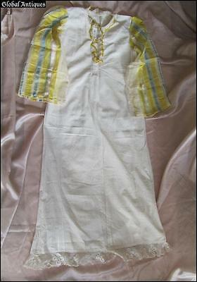 19C. Antique Macedonian Folk Costume Handmade Embroidered Ladies Shirt