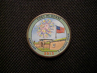 2013 Colorized Fort McHenry Maryland National Park Quarter - P Mint