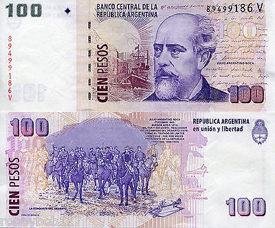 ARGENTINA 100 Pesos Banknote World Money Currency South America BILL p357 Note