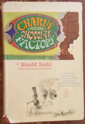 1964 CHARLIE AND THE CHOCOLATE FACTORY ROALD DAHL 2nd STATE Hardcover DJ KNOPF