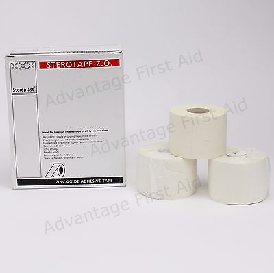 3 Zinc Oxide Tape Sports Injury Support Strapping. 5cm x 10m. Next Day Delivery