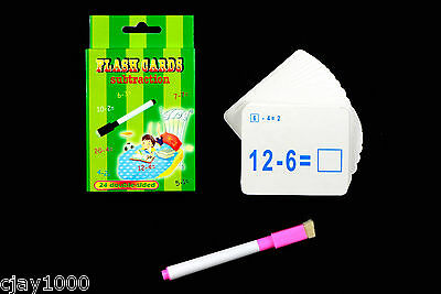 Maths Subtraction Educational Game Learning Flash Cards Children Kids