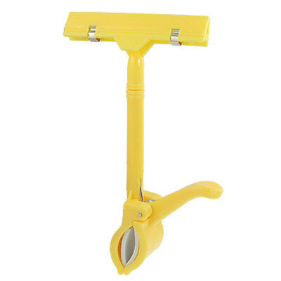 Rotary Direction Thumb POP Sign Clip Holder Yellow for Exhibitions