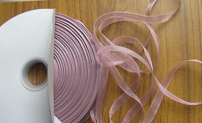 """200yd large reel / roll (over 180m) 10mm 3/8"""" sheer organza ribbon choose colour"""