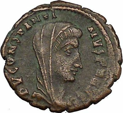 CONSTANTINE I the GREAT 347AD  Ancient Roman Coin Christian Deification  i35589