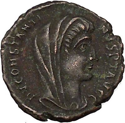CONSTANTINE I the GREAT 347AD  Ancient Roman Coin Christian Deification  i35587