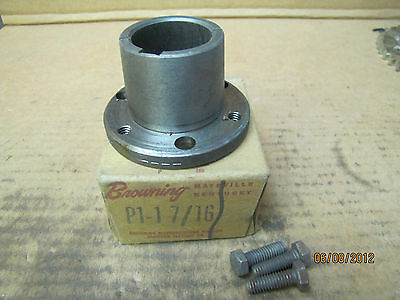 "Browning Split Taper Bushing P1-1 7/16 P11716 1-7/16"" Keyed Bore New"