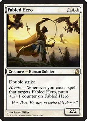 Eroe Epico - Fabled Hero MTG MAGIC THS Theros Eng/Ita/French/Japanese/Russian