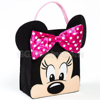 Disney Mickey Clubhouse Minnie Mouse Trick or Treat Bag Halloween Candy Basket