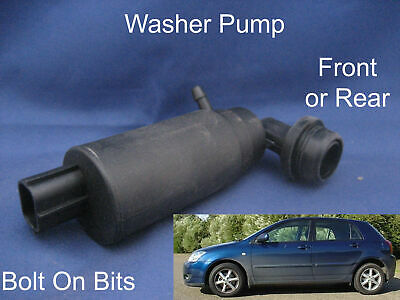 Front or Rear Windscreen Washer Pump Toyota Corolla 5Dr 2002 2003 2004 2005 2006