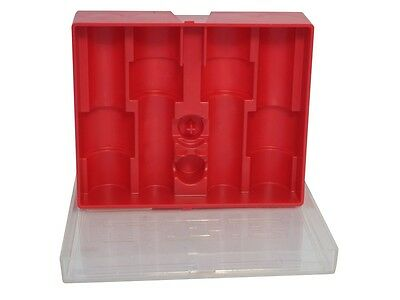 Lee Precision 4 Die Storage Box Red with Clear Lid  # 90422   New!