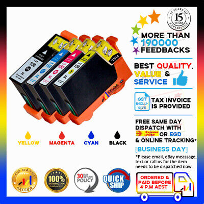 4x Lexmark 150XL Generic Ink Cartridge for Pro715 Pro915 S315 S415 S515 Printer