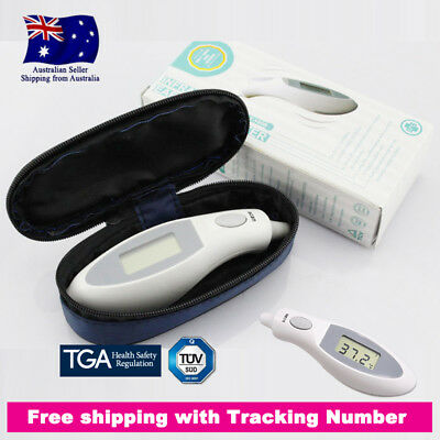 New Digital Infrared Ear Thermometer with Case for Baby Adults Probe Cover Free
