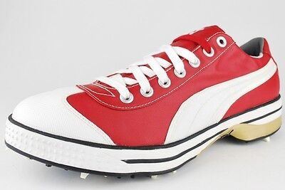 PUMA CLUB 917 RIBBON RED WHITE TEAM GOLD GOLF CLEAT 185227 03 RICKY FOWLER S6