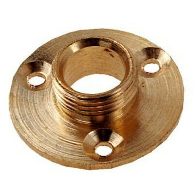 """1/2"""" Brass Lamp Backplate For Fitting Lamp holders to Lamps 1/2"""" Thread"""