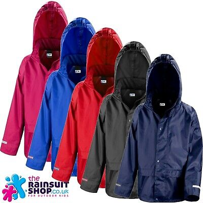 NEW WATERPROOF  HOODED RAIN JACKET COAT CHILDRENS BOYS OR GIRLS 3yrs to 12yrs