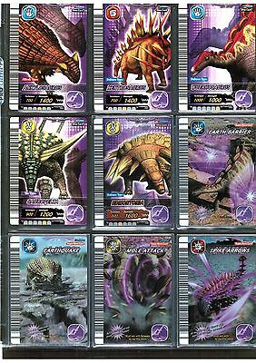 DINOSAUR KING Sega 5th ed Page-of-9 EARTH (as shown) 5 Foil super Dino/MoveCard