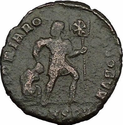 "VALENS ""Last True Roman"" w labarum 364AD Ancient Roman Coin Christ monog  i35732"