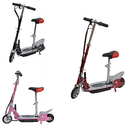 120W Deluxe Kids Electric E Scooter Battery Ride on Toy Children Adjustable Seat