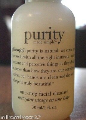 1 PHILOSOPHY PURITY ONE STEP FACIAL CLEANSER 1oz NEW!