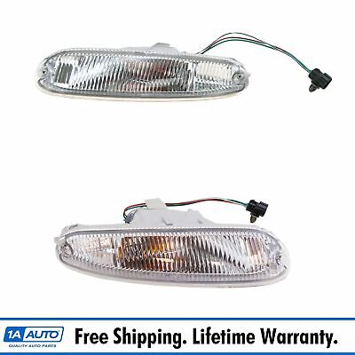 Bumper Mounted Marker Signal Parking Light Pair Set for 90-97 Mazda Miata MX-5
