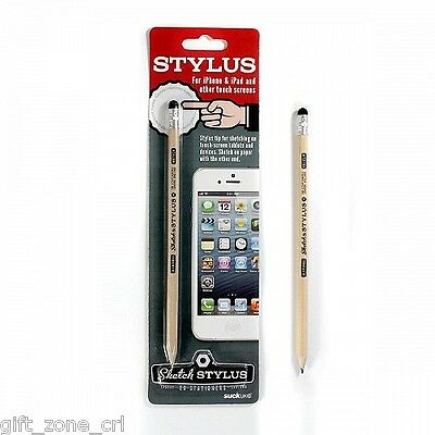 SKETCH STYLUS - Real HB PENCIL with Built In TOUCH SCREEN Stylus