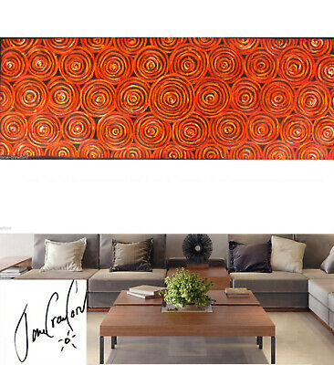 ART PAINTING ABSTRACT DREAMPOOLS ABORIGINAL  210cm by 70cm