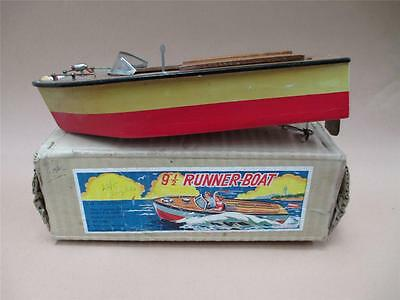 Boat, wooden, battery operated, retro