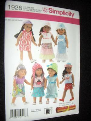 "18"" DOLL  NEW Simplicity 1928 Pattern Summer Clothes Dresses Fits American Girl"