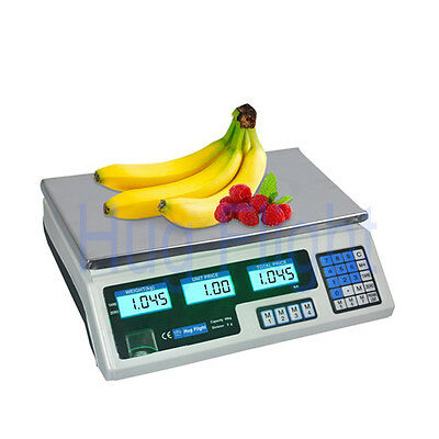 40kg Digital Fruits Weighing Computing Price Scale Electronic Adapter upto Shop