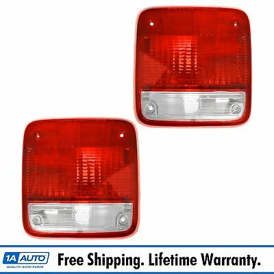 Taillights Lamps Taillamps Pair Set Rear Brake for 85-96 Chevy GMC Van Full Size