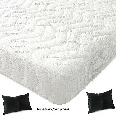 Reflex Memory All Foam Mattress 5 + 1 + Free Pillows Free Next Day Delivery