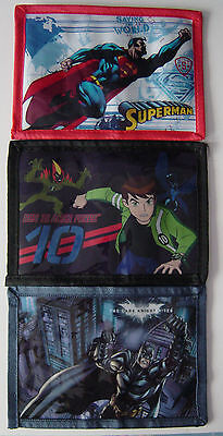Kids Wallet, Brand New, Superman, Ben 10, Batman, VW Camper, Skull, Surfer