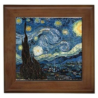 Van Gogh Starry Night Framed Tile Wall Picture
