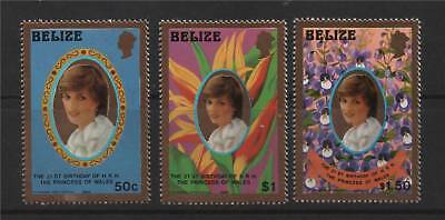 Belize 1982 Diana's 21st B/Day Gold P14 SG 680/2 MNH