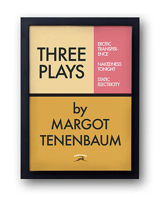 "The Royal Tenenbaums Poster - ""Three Plays by Margot"" - Wes Anderson rushmore"
