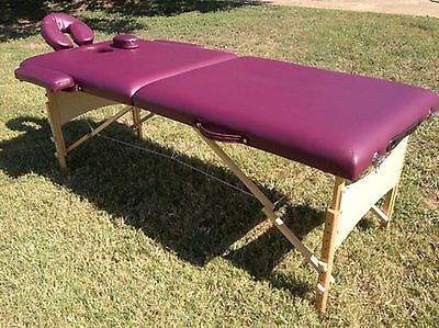 """2"""" Purple PU Portable Massage Table/Bed with Carry Case S22PL"""